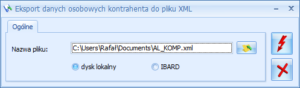 comarch optima eksport danych osobowych do xml